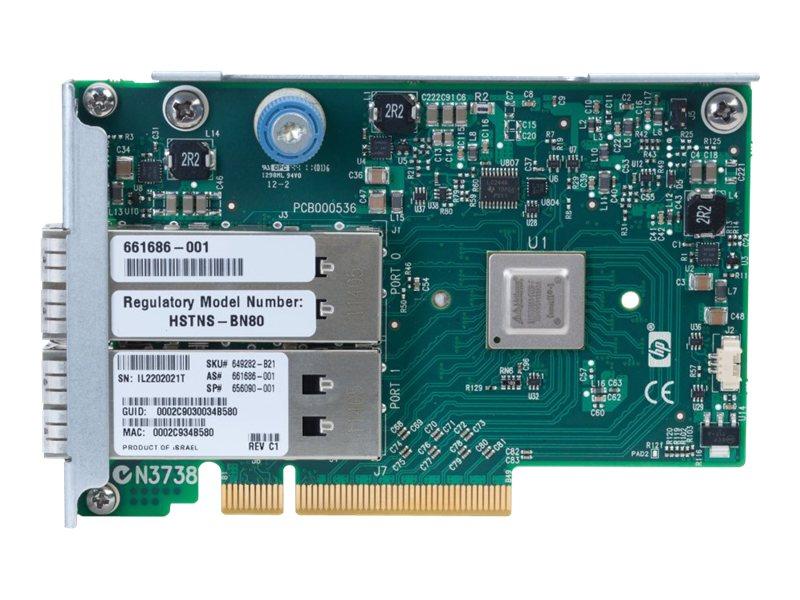 HPE InfiniBand QDR/EN 10Gb Dual Port 544FLR-QSFP - Netzwerkadapter - PCIe 3.0 x8 - 10 GigE, InfiniBand - 2 Anschlüsse - für ProL