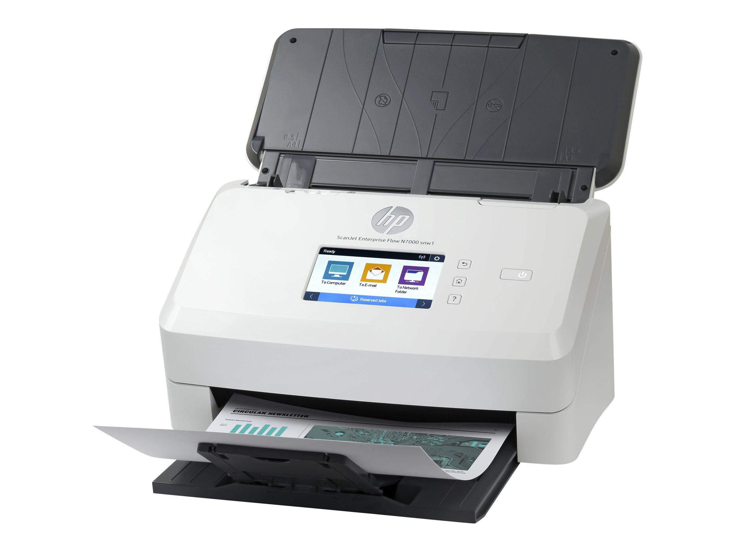 HP ScanJet Enterprise Flow N7000 snw1 - Dokumentenscanner - CMOS / CIS - Duplex - 216 x 3100 mm - 600 dpi x 600 dpi
