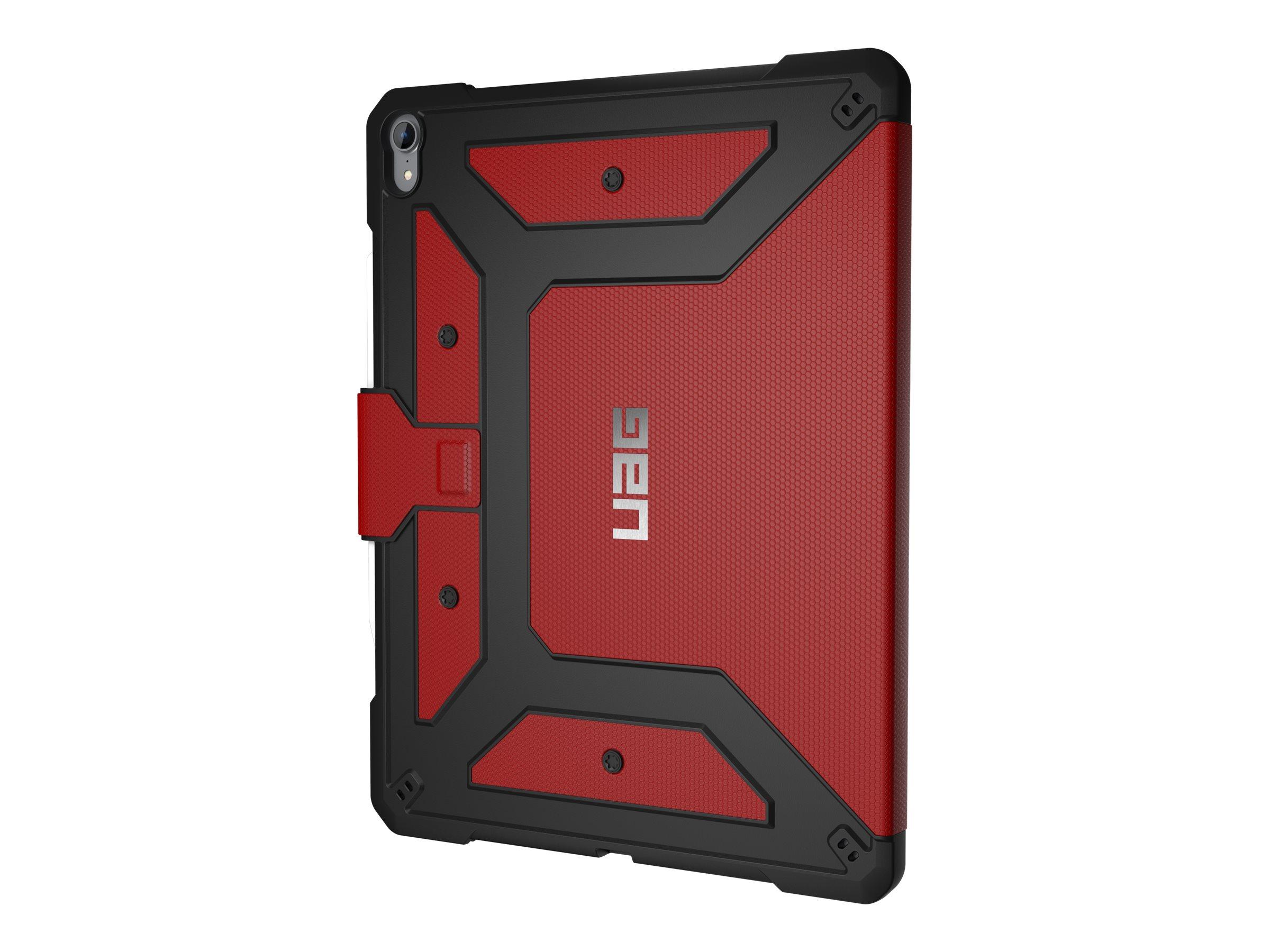 UAG Rugged Case for iPad Pro 12.9-inch (3rd Gen, 2018) - Metropolis Magma - Flip-Hülle für Tablet - Magma - für Apple 12.9-inch
