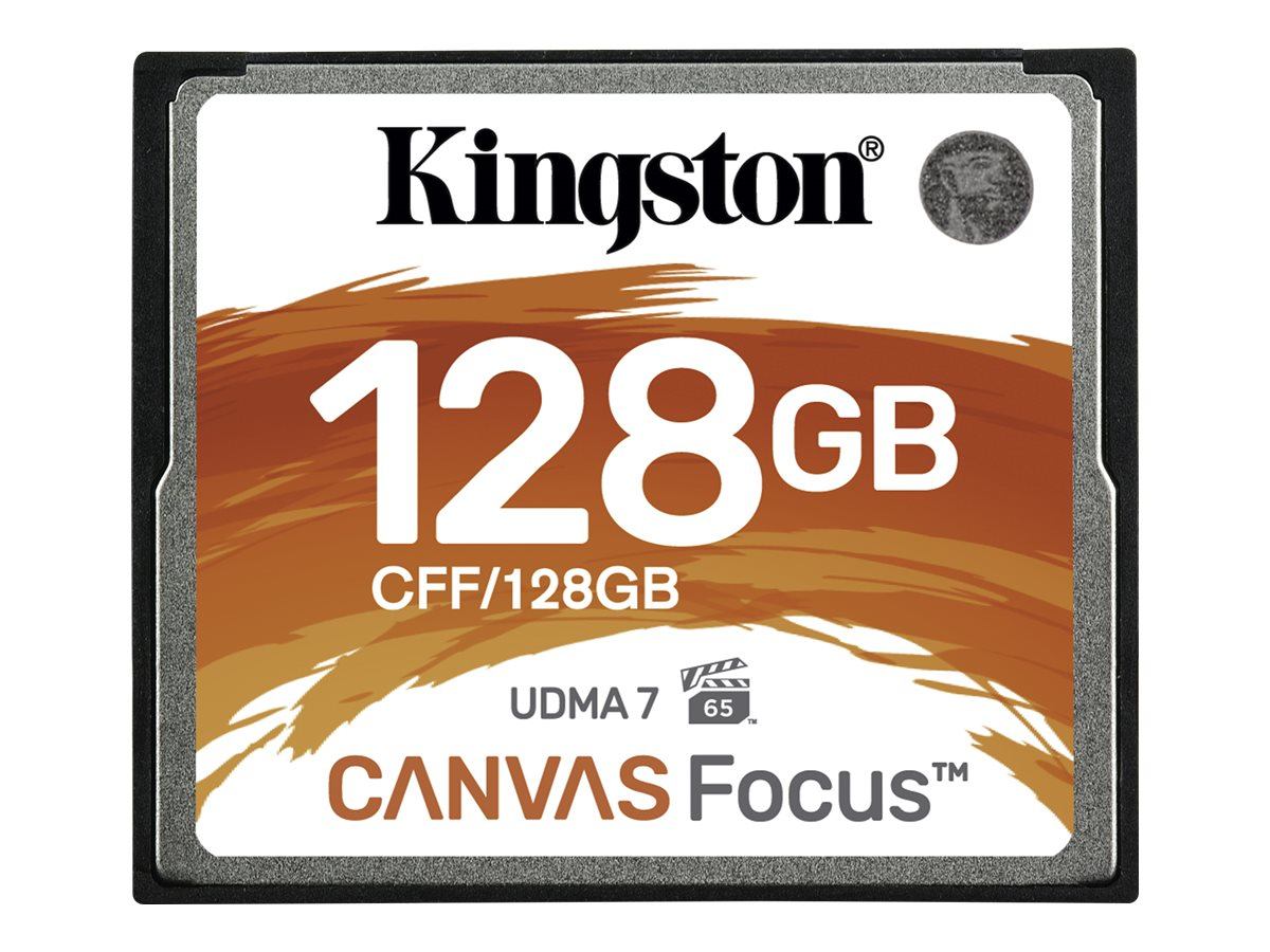 Kingston Canvas Focus - Flash-Speicherkarte - 128 GB - CompactFlash