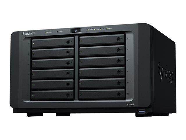 Synology FlashStation FS1018 - NAS-Server - 12 Schächte - RAID 0, 1, 5, 6, 10, JBOD, RAID F1 - RAM 8 GB - Gigabit Ethernet