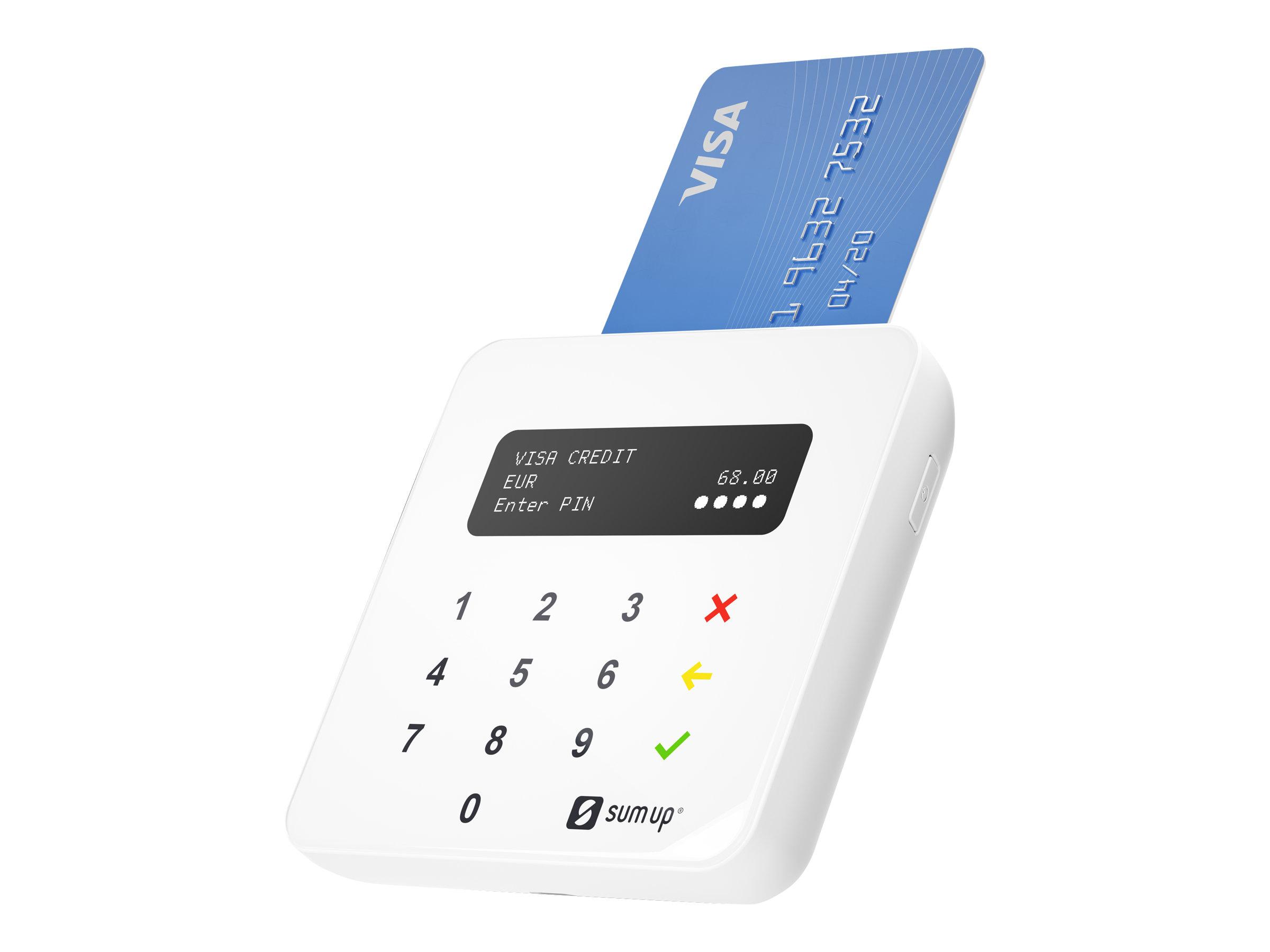 SumUp Air - Magnetisch/SMART Karte/NFC-Leser (Spuren 1, 2 & 3) - Bluetooth