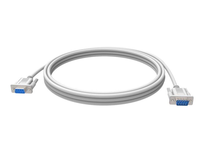 Vision Techconnect - Serielles Verlängerungskabel - DB-9 (W) bis DB-9 (M) - 5 m - weiss