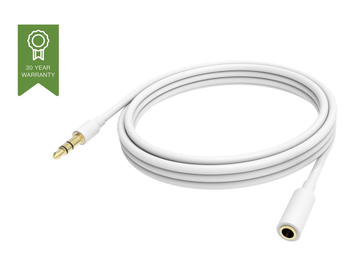 VISION Techconnect - Audioverlängerungskabel - Stereo Mini-Klinkenstecker (M) bis Stereo Mini-Klinkenstecker (W) - 2 m - abgesch