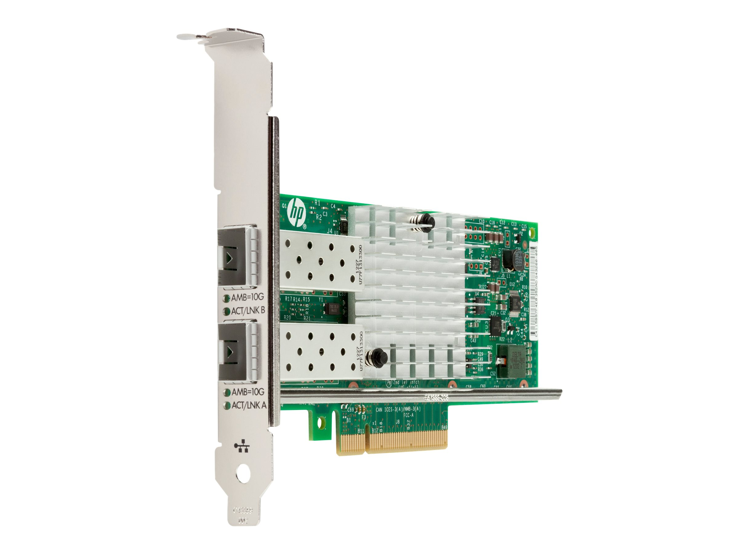 Intel X520 - Netzwerkadapter - PCIe 2.0 x8 Low-Profile - 10 GigE - 2 Anschlüsse - für Workstation Z220, Z230, Z420, Z620, Z820