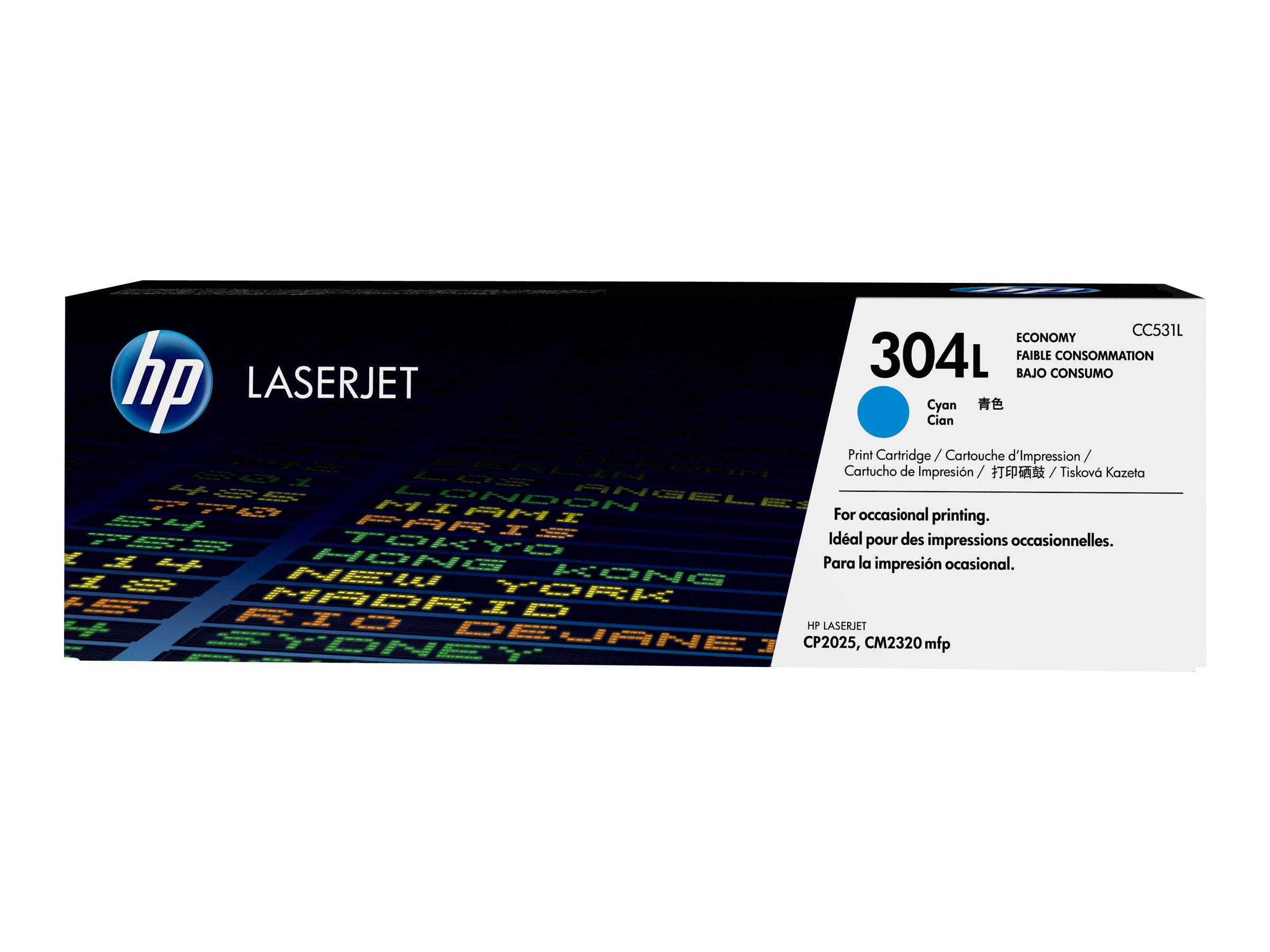 HP 304L - Economy - Cyan - Original - LaserJet - Tonerpatrone (CC531L)