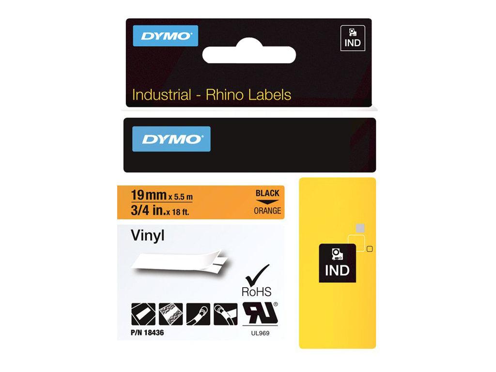 DYMO RhinoPRO - Vinyl - permanenter Klebstoff - orange - Roll (1.9 cm x 5.5 m) 1 Rolle(n) Band - für DYMO ILP219; Rhino 4200, 60