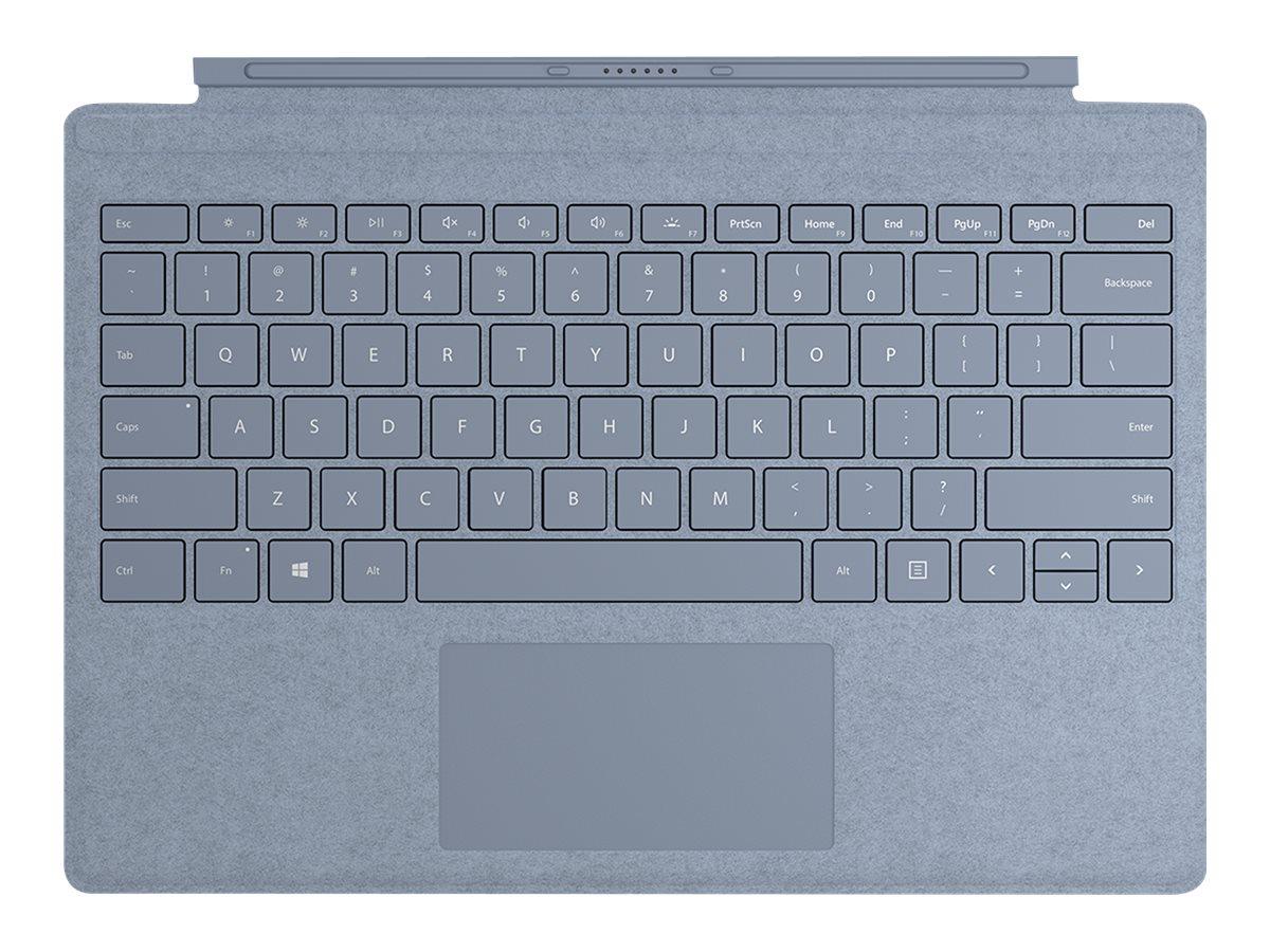 Microsoft Surface Pro Signature Type Cover - Tastatur - mit Trackpad - hinterleuchtet - Luxemburgisch - Eisblau