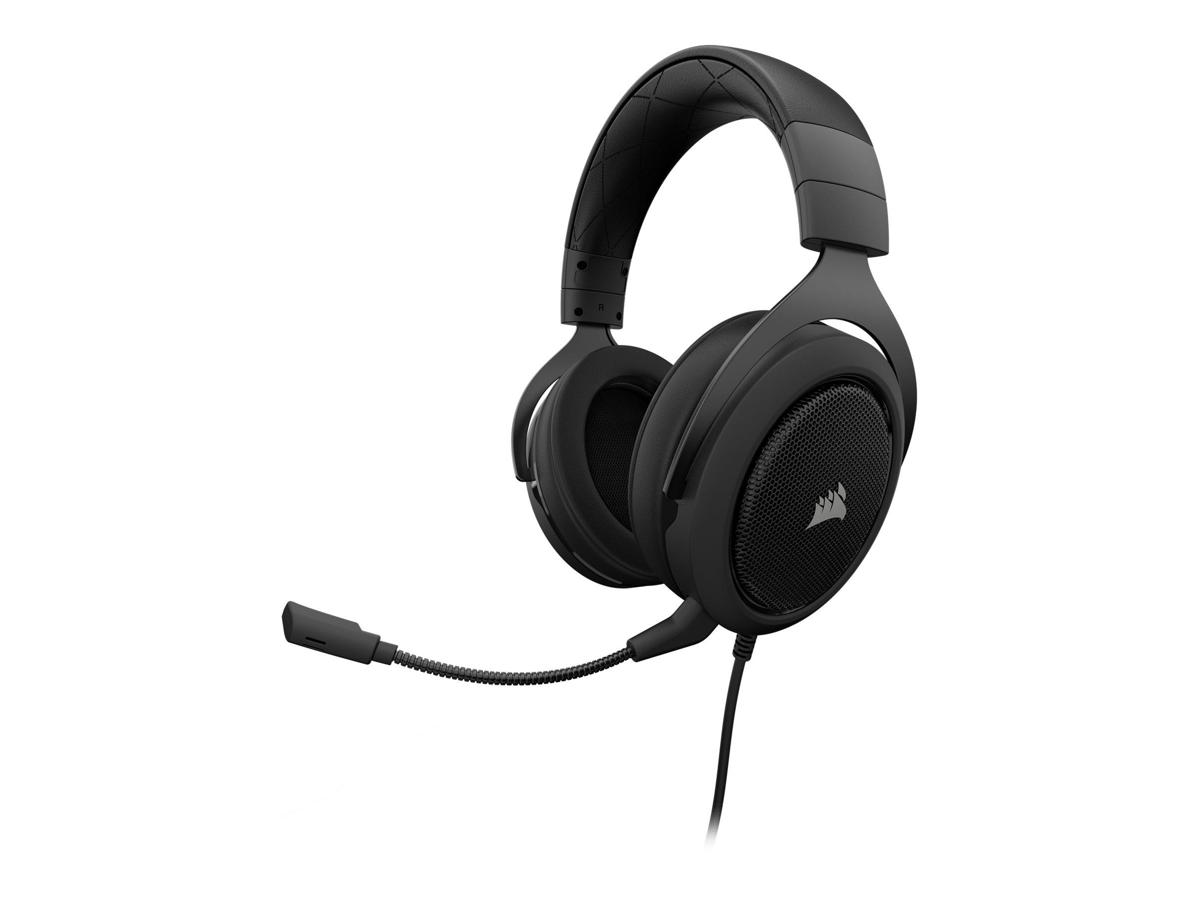 CORSAIR Gaming HS60 SURROUND - Headset - Full-Size - kabelgebunden - USB, 3,5 mm Stecker - Kohle