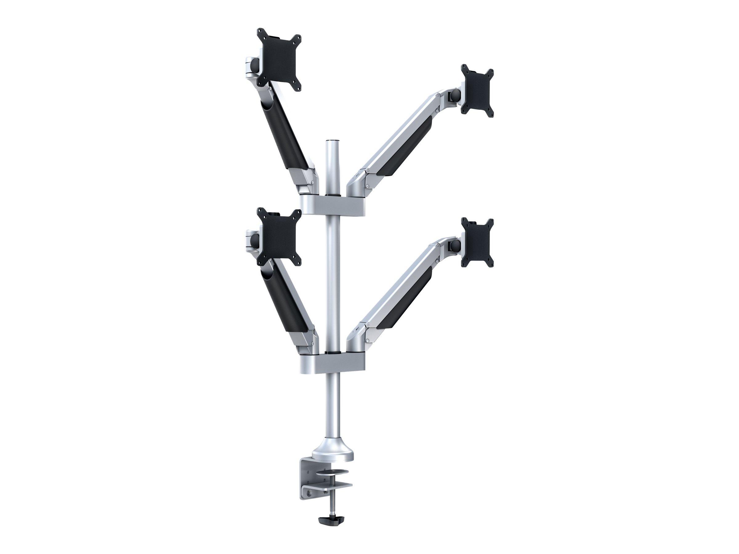 Multibrackets M VESA Gas Lift Arm Quad - Befestigungskit (Spannbefestigung für Tisch, 4 Gelenkarme) für 4 LCD-Anzeigen - Alumini