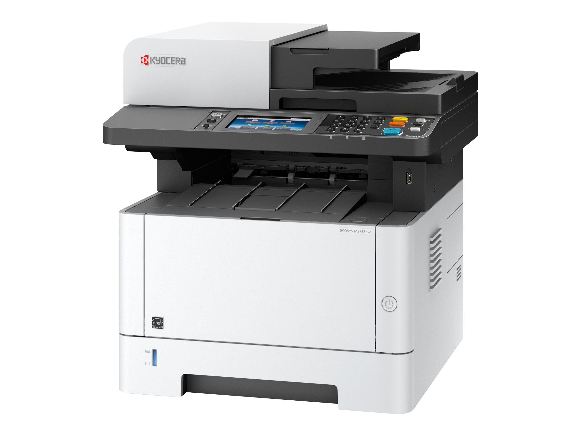 Kyocera ECOSYS M2735dw - Multifunktionsdrucker - s/w - Laser - Legal (216 x 356 mm) (Original) - A4/Legal (Medien)