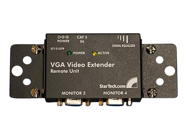 StarTech.com VGA über Cat5 Extender Empfänger bis max. 150m - UTP Video Extender Receiver max. 1024x768 - Video Extender - bis z