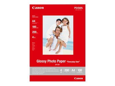 Canon GP-501 - Glänzend - 100 x 150 mm 100 Blatt Fotopapier - für PIXMA iP5300, iP90, MG2555, mini260, MP180, MP490, MP510, MP55