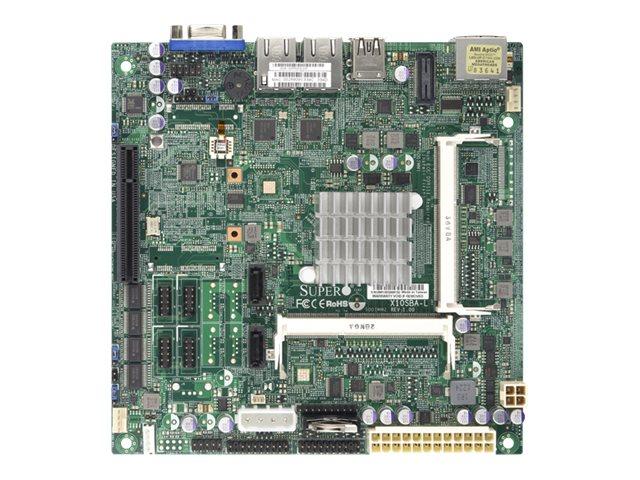 SUPERMICRO X10SBA-L - Motherboard - Mini-ITX - Intel Celeron J1900 - USB 3.0 - 2 x Gigabit LAN