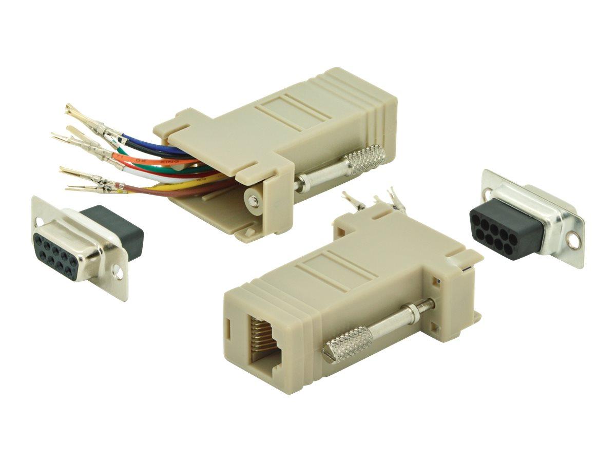 ASSMANN - Serieller RS-232-Adapter - DB-9 (W) bis RJ-45 (W) - beige