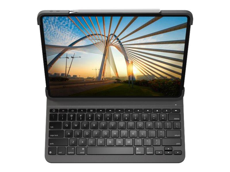 Logitech Slim Folio Pro - Tastatur und Foliohülle - hintergrundbeleuchtet - kabellos - Bluetooth LE - QWERTZ