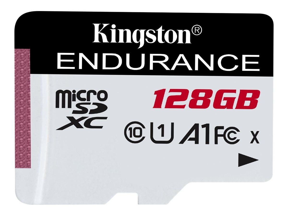 Kingston High Endurance - Flash-Speicherkarte - 128 GB - A1 / UHS-I U1 / Class10 - microSDXC UHS-I