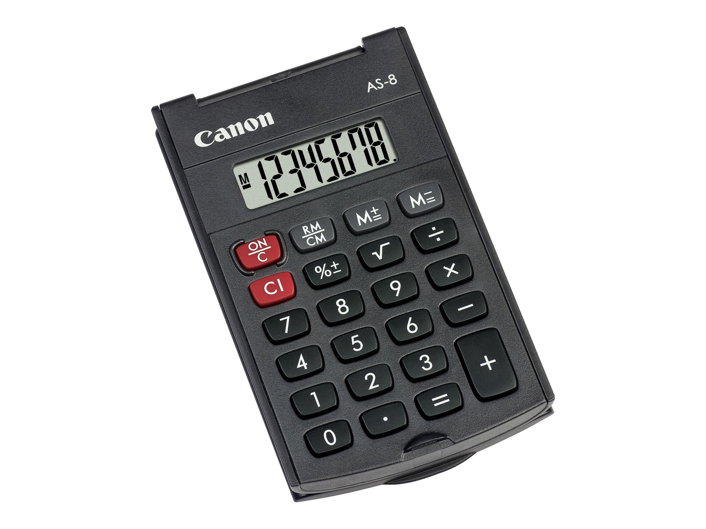 Canon AS-8 - Taschenrechner - 8 Stellen - Dunkelgrau