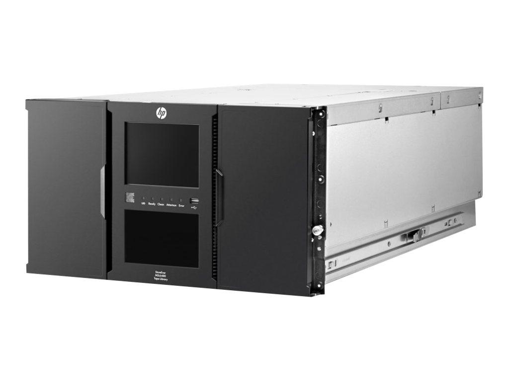 HPE StoreEver MSL6480 Scalable Base Module - Bandbibliothek - Steckplätze: 80 - keine Bandlaufwerke - max. Anzahl von Laufwerken