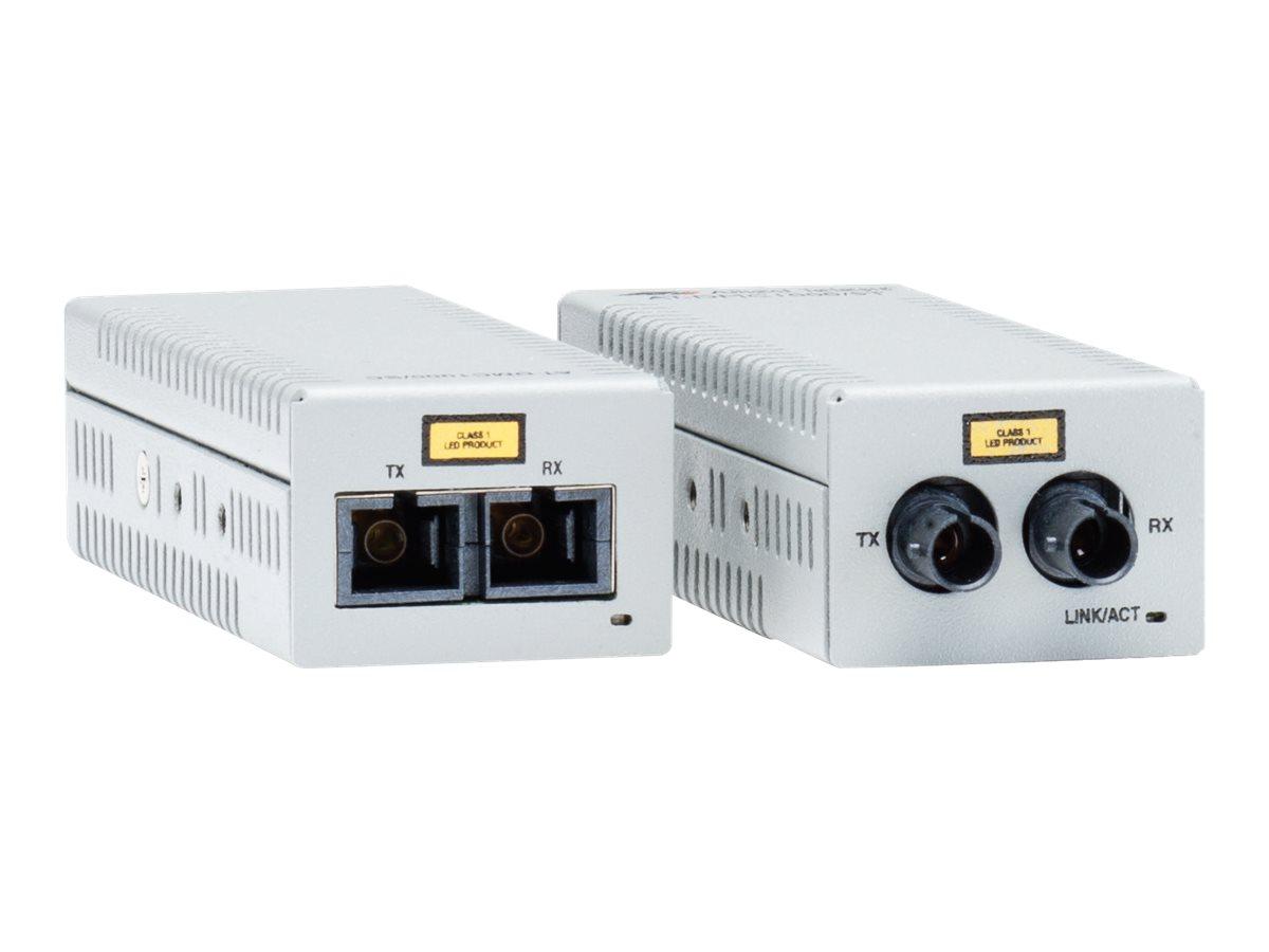 Allied Telesis AT DMC100/ST - Medienkonverter - 100Mb LAN - 100Base-FX, 100Base-TX - RJ-45 / ST multi-mode - bis zu 2 km