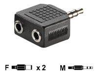 Rotronic VALUE - Audio-Splitter - Mini-Phone Stereo 3,5 mm (W) bis Mini-Phone Stereo 3,5 mm (M) - Schwarz