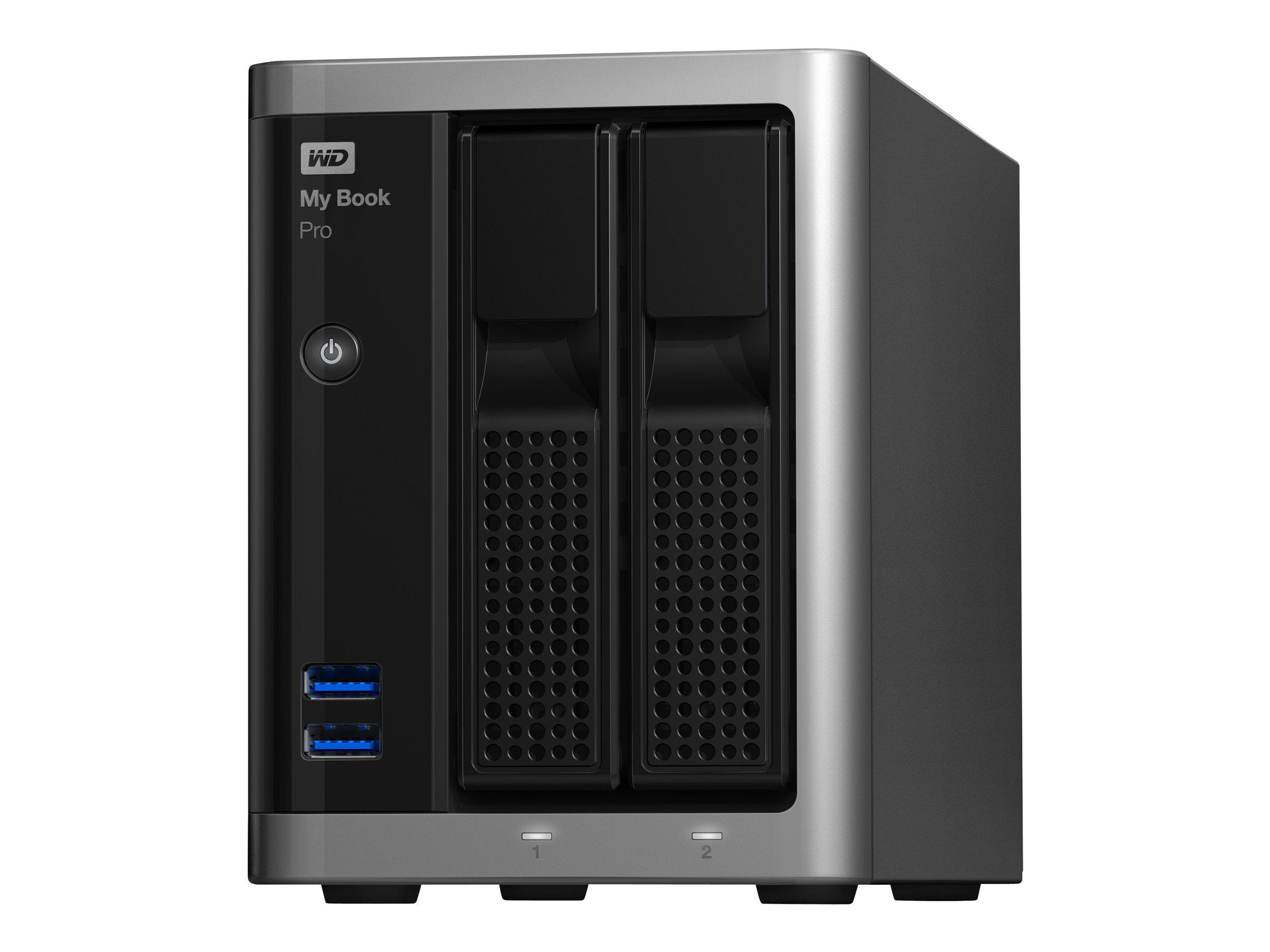 WD My Book Pro WDBDTB0120JSL - Festplatten-Array - 12 TB - 2 Schächte - HDD 6 TB x 2 - USB 3.0, Thunderbolt 2 (extern)