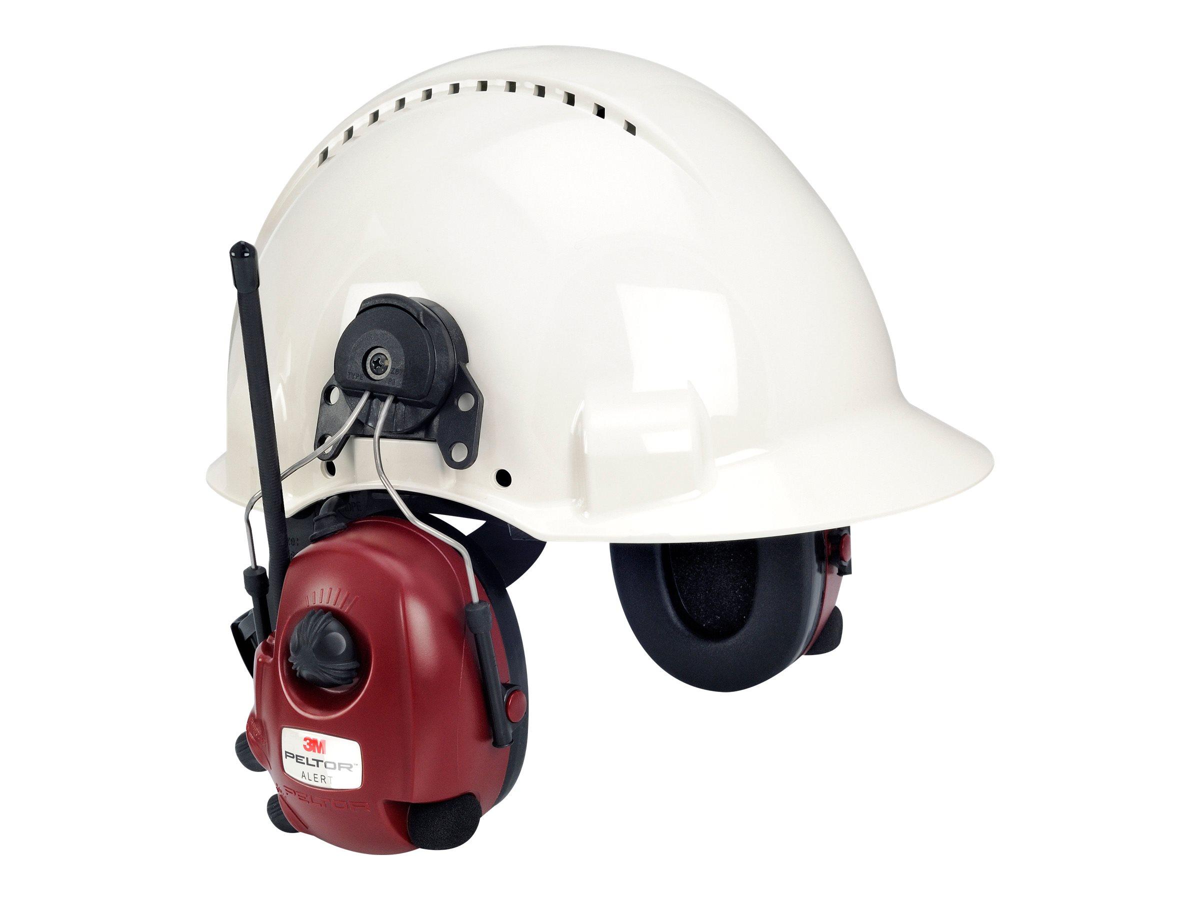 3M Peltor Alert M2RX7P3E2-01 - Headset mit Radio - am Helm angebracht - kabelgebunden - 3,5 mm Stecker - Rot