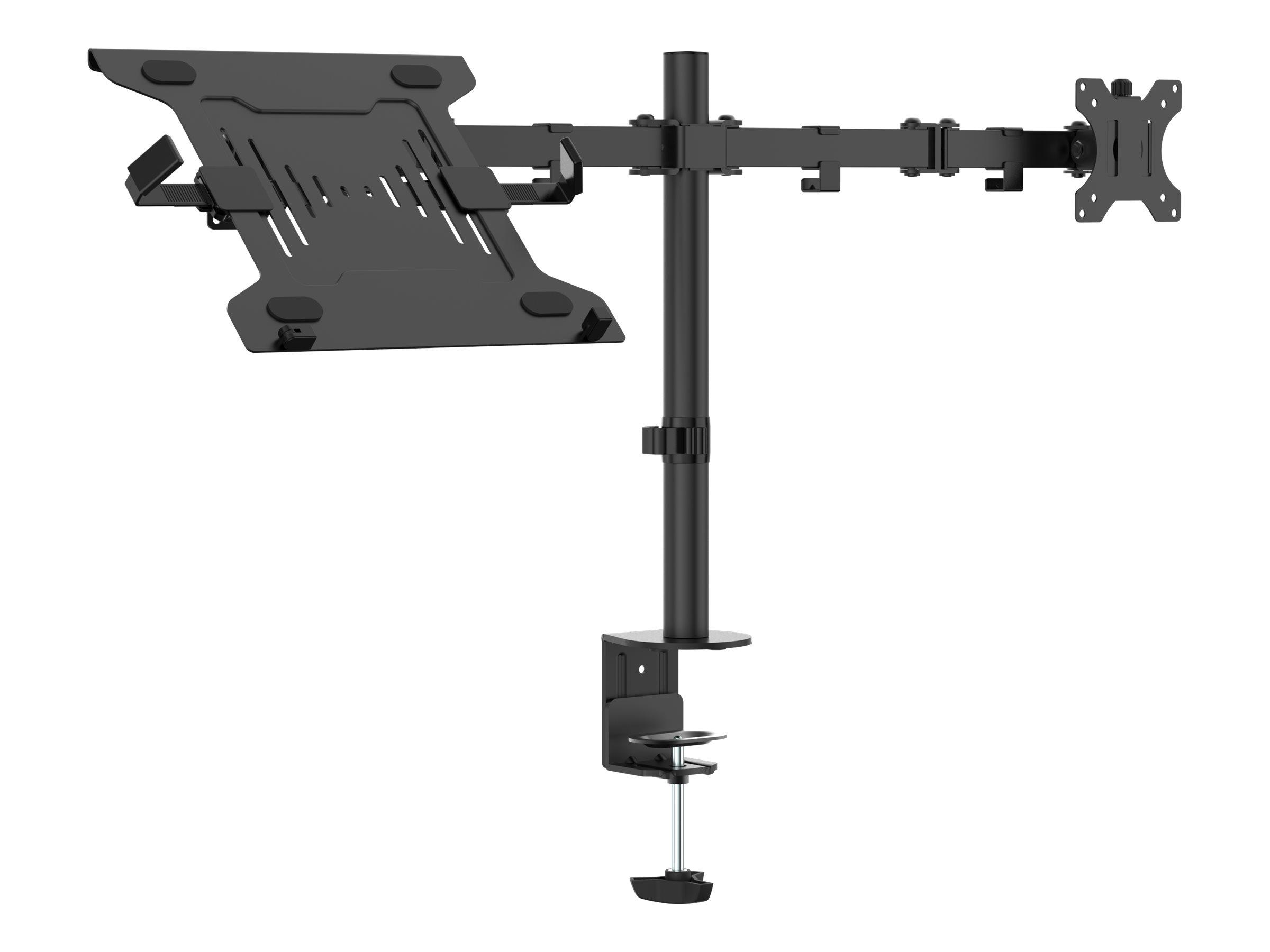 Vision VFM-DPD2B+S - Befestigungskit (Laptop-Ablage, 2 Gelenkarme, Grommetbasis, 2 VESA-Adapter, 17,4