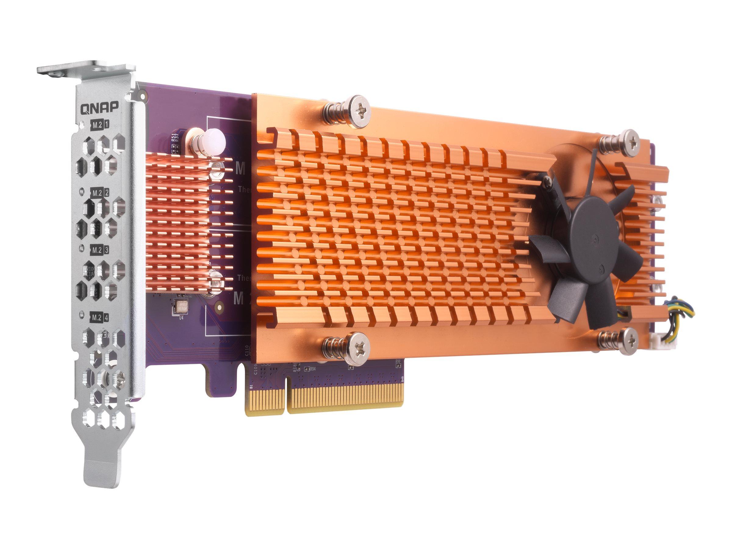 QNAP QM2-4P-384 - Speicher-Controller - PCIe 3.0 Low-Profile - PCIe 3.0 x8