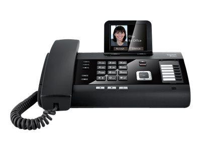 Gigaset DL500A - Schnurlostelefon - Anrufbeantworter mit Rufnummernanzeige/Anklopffunktion - DECT\GAP - Piano Black