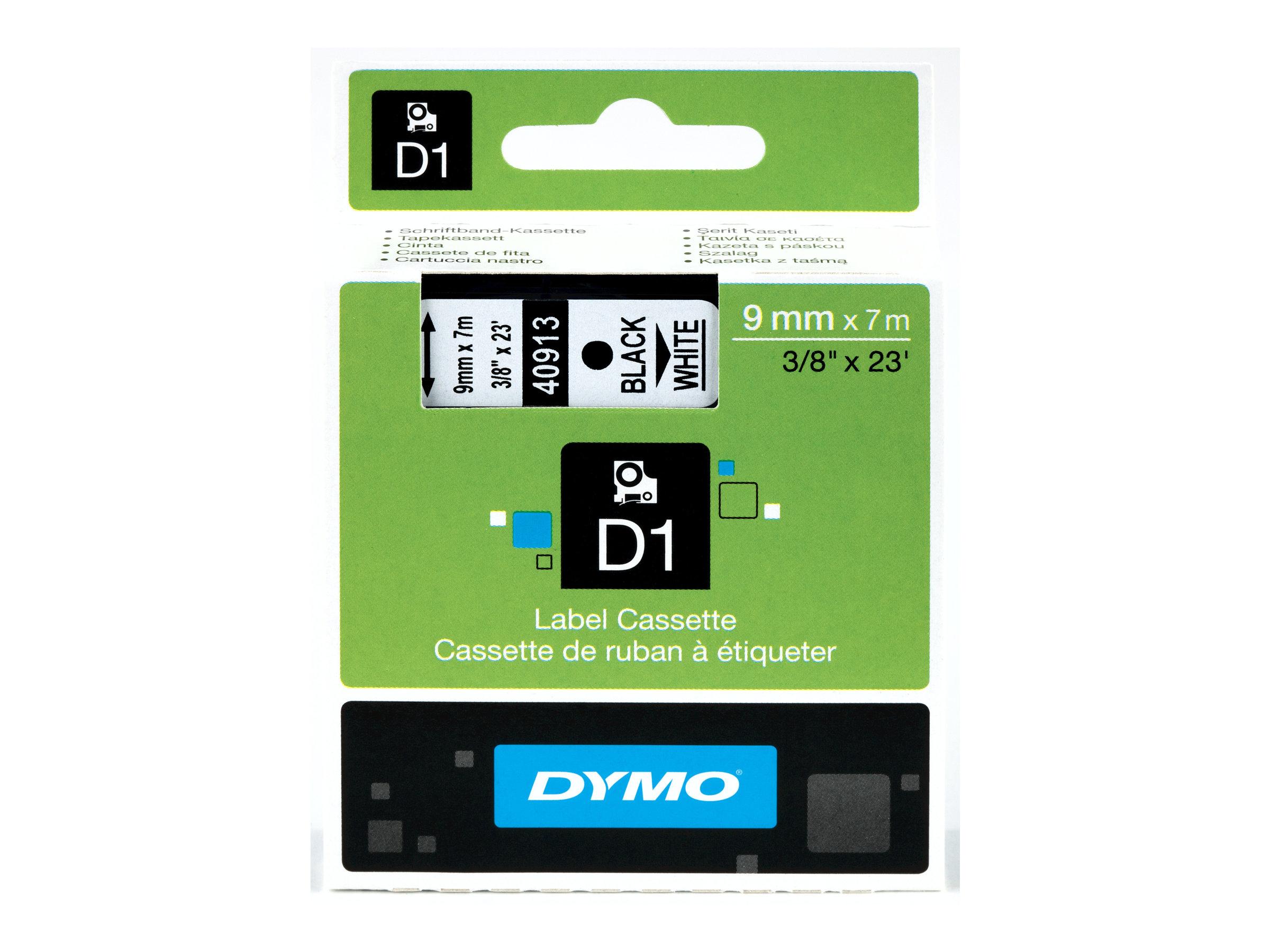 DYMO D1 - Selbstklebend - Schwarz auf Weiss - Rolle (0,9 cm x 7 m) 1 Rolle(n) Etikettenband - für LabelMANAGER 100, 160, 210, 22