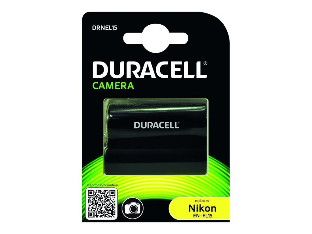 Duracell DRNEL15 - Batterie - Li-Ion - 1400 mAh - für Nikon D600, D610, D7000, D7100, D7200, D750, D7500, D800, D800E, D810, D81