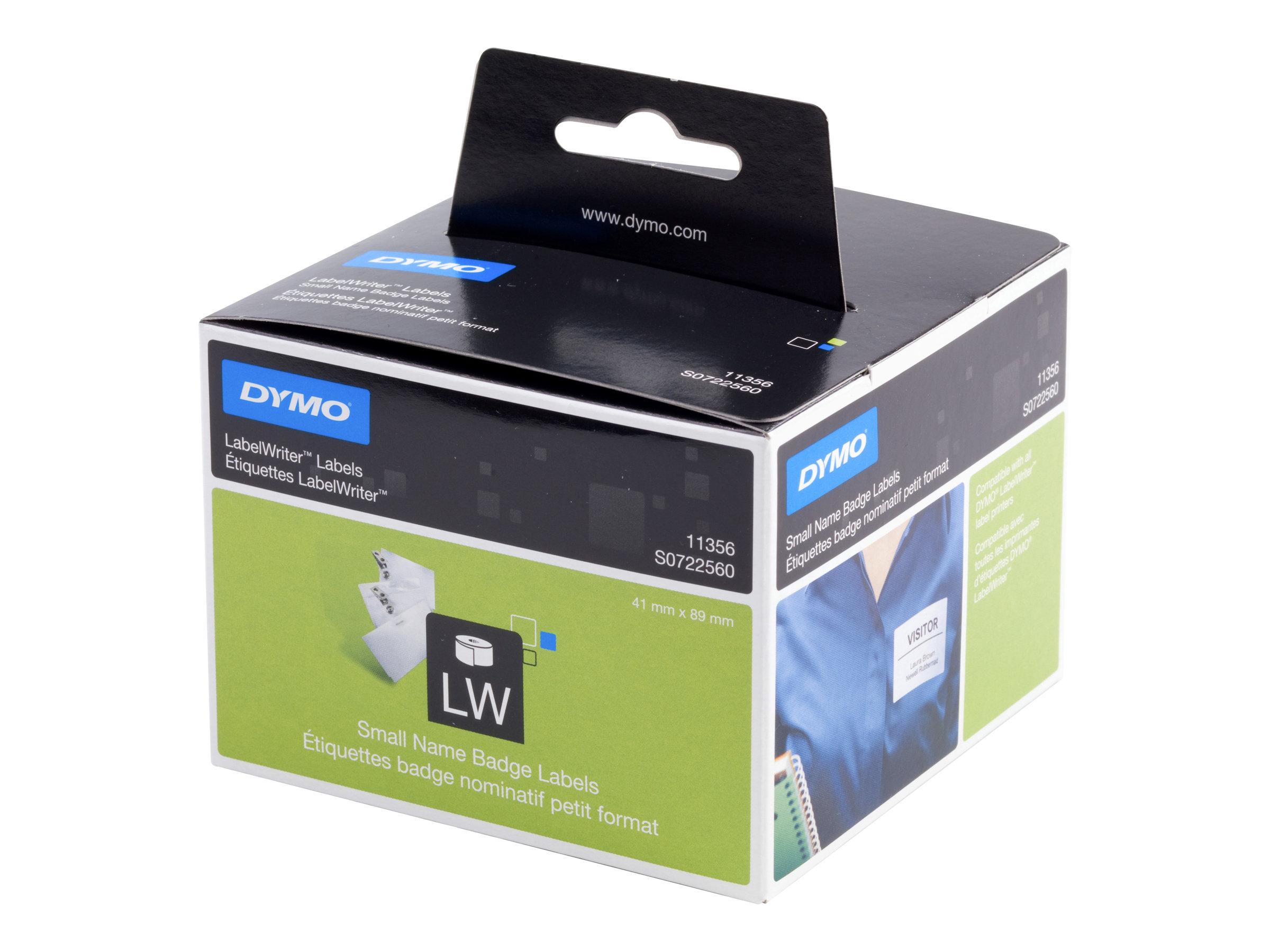 DYMO LabelWriter - Weiss - 89 x 41 mm 300 Etikett(en) (1 Rolle(n) x 300) Namensetiketten - für DYMO LabelWriter