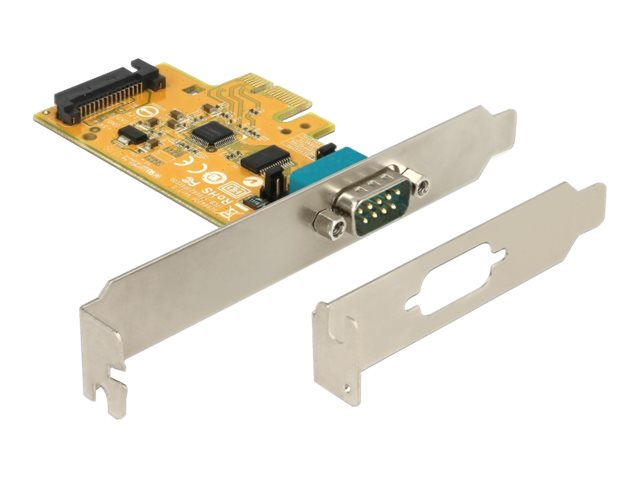 DeLOCK PCI Express Card to 1 x Serial with voltage supply ESD protection - Serieller Adapter - PCIe 2.0 Low-Profile - RS-232 x 1