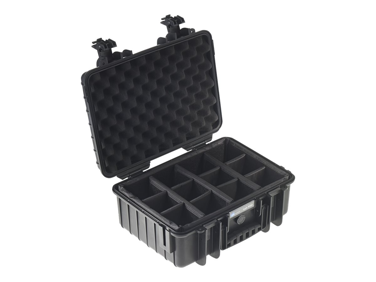 B&W outdoor.cases Type 4000 - Hartschalentasche - Polypropylen - Schwarz