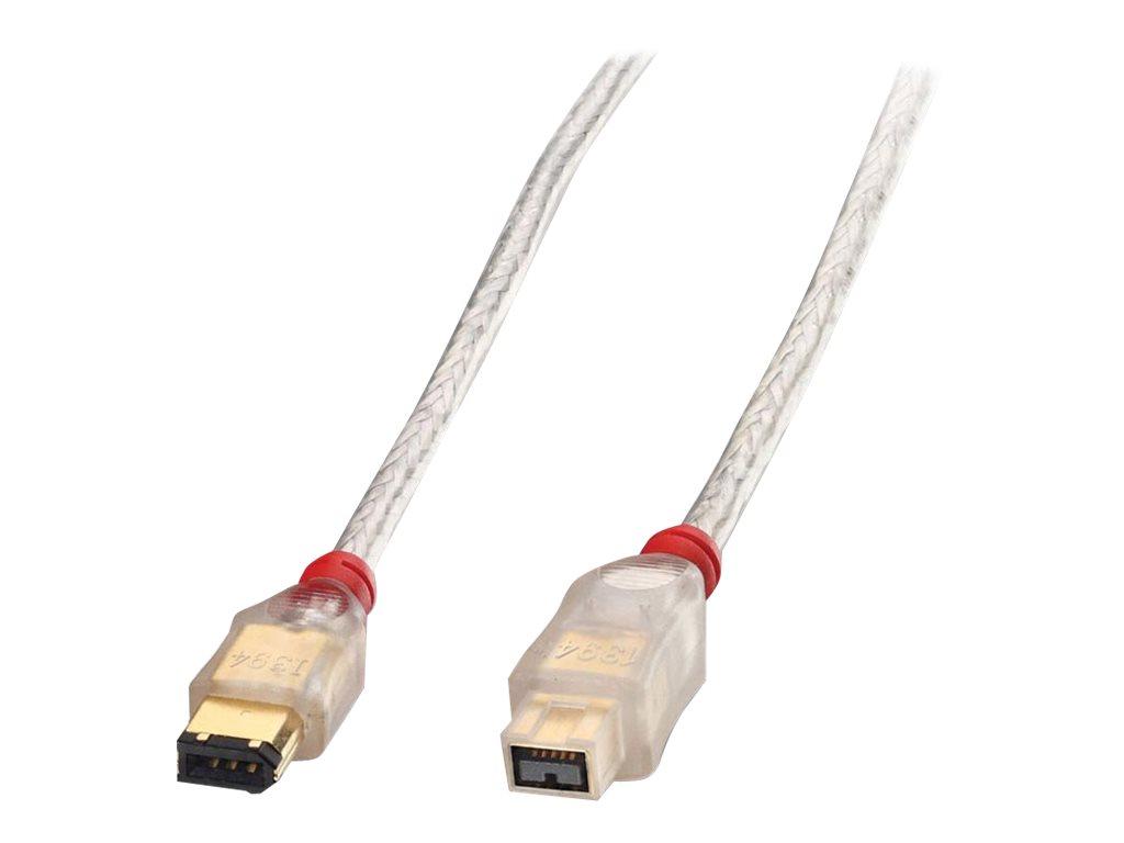 Lindy Premium - IEEE 1394-Kabel - FireWire, 6-polig (M) bis FireWire 800 (M) - 10 m - geformt - durchsichtig