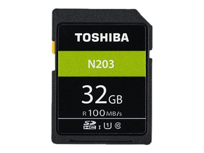 Toshiba High Speed N203 - Flash-Speicherkarte - 32 GB - UHS-I U1 / Class10 - microSDHC - Schwarz
