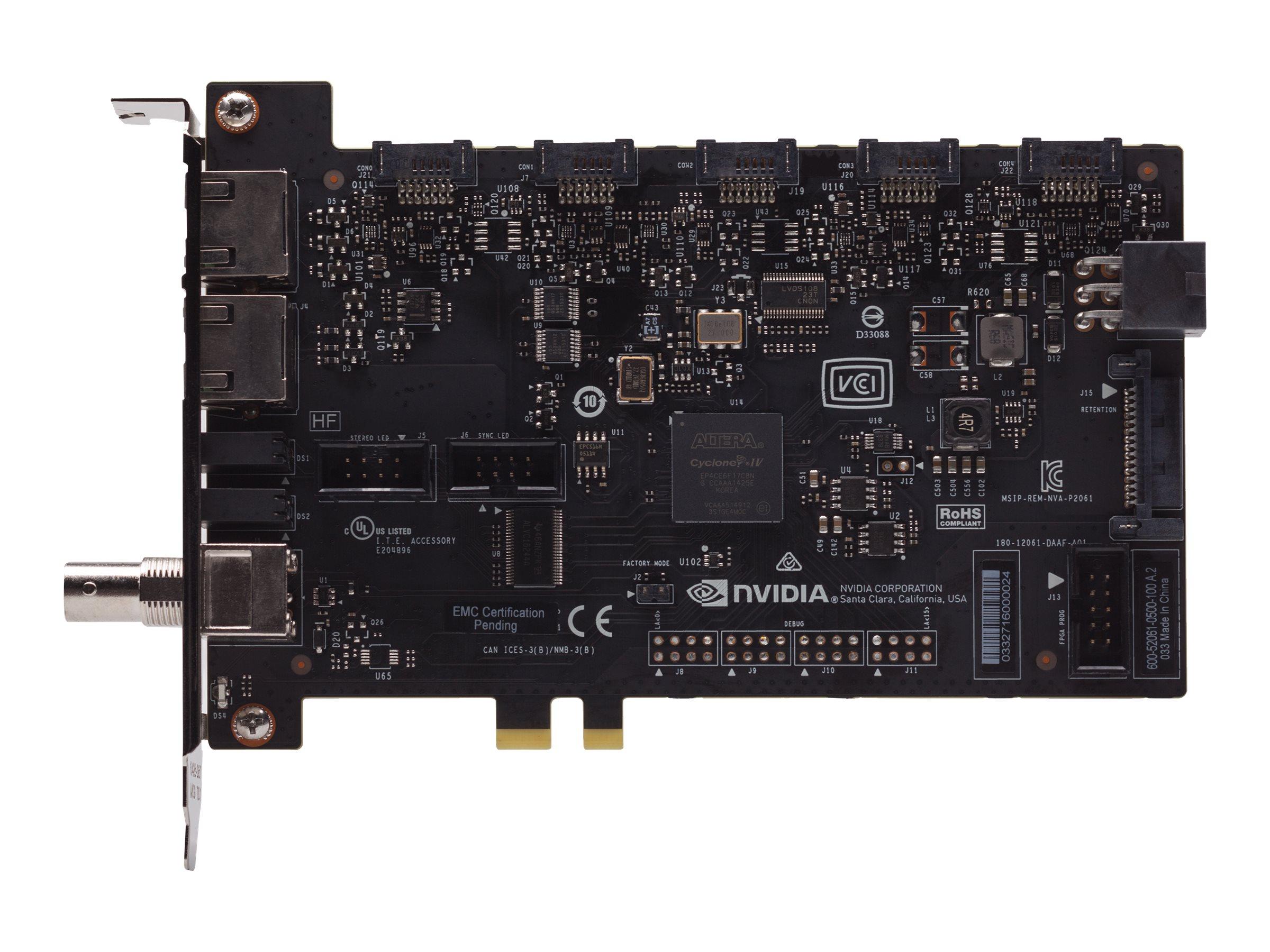 NVIDIA Quadro Sync II - Zusätzliche Schnittstellenplatine - PCIe