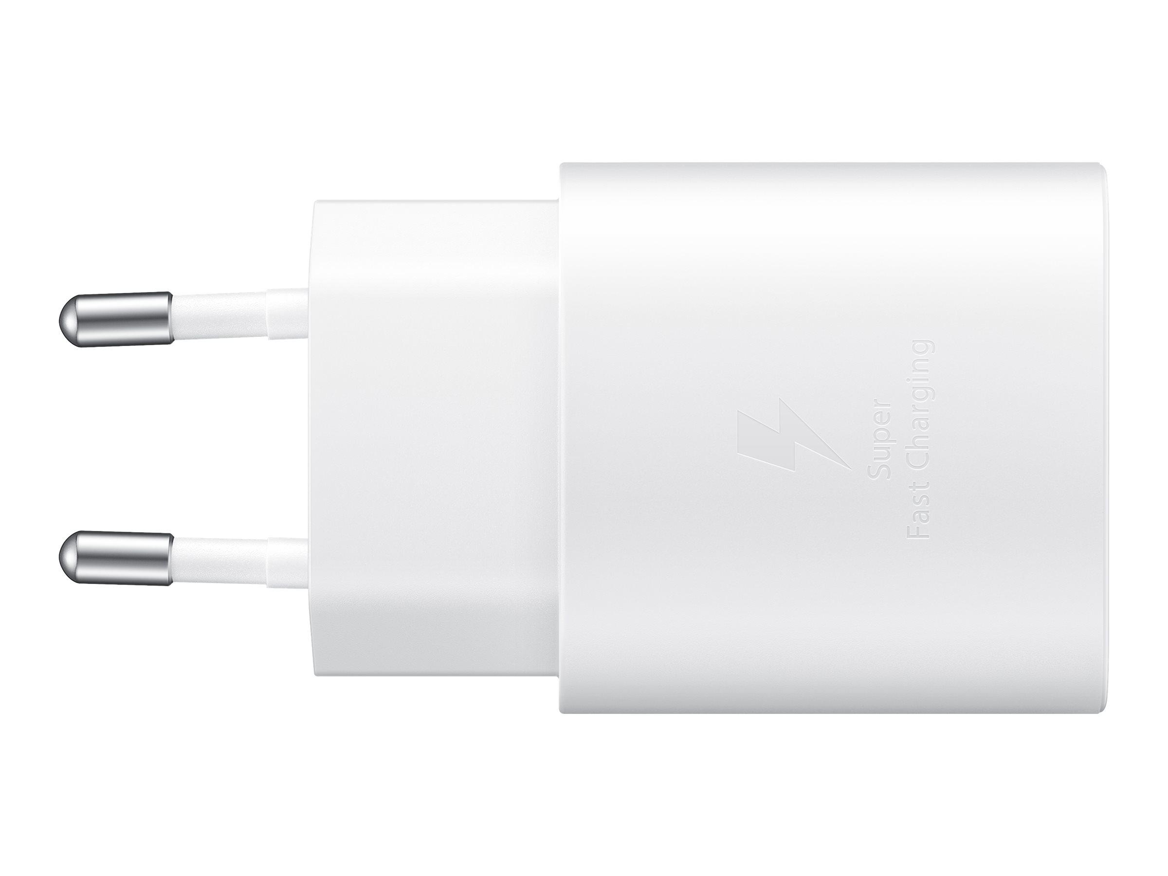 Samsung EP-TA800 - Netzteil - 25 Watt - 3 A - Ultra Fast Charge (USB-C) - auf Kabel: USB-C