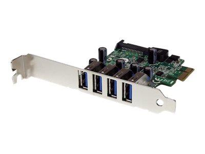 StarTech.com 4 Port PCI Express USB 3.0 SuperSpeed Schnittstellenkarte mit UASP - SATA Strom - PCIe 4x USB 3.0 mit SATA-Anschlus
