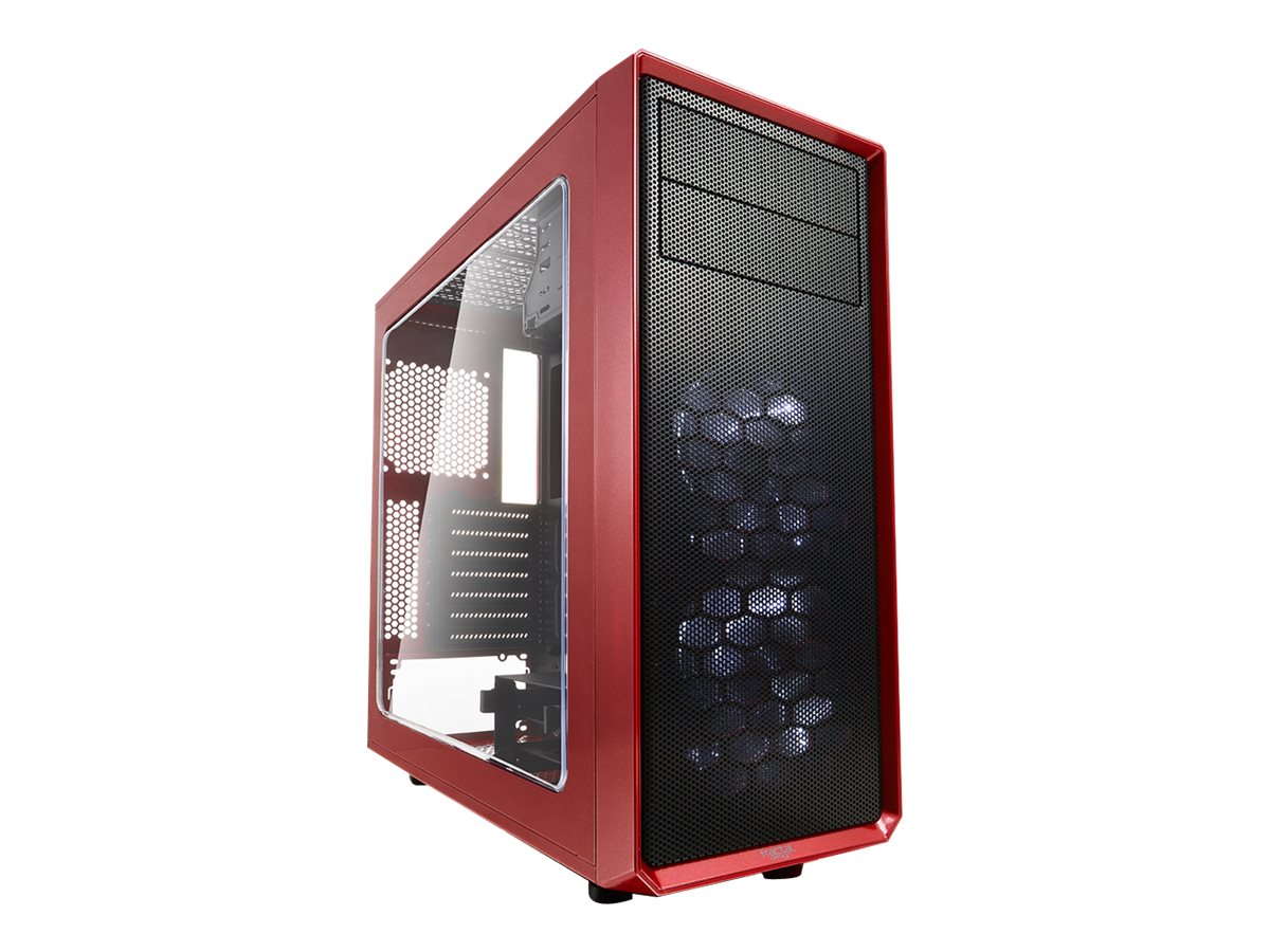 Fractal Design Focus G - Tower - ATX - ohne Netzteil (ATX) - Mystic Red - USB/Audio