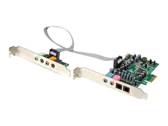StarTech.com 7.1 Kanal PCI Express Soundkarte - PCIe Sound Karte mit SPDIF optisches Kabel - 24-bit - 192KHz - Soundkarte - 192