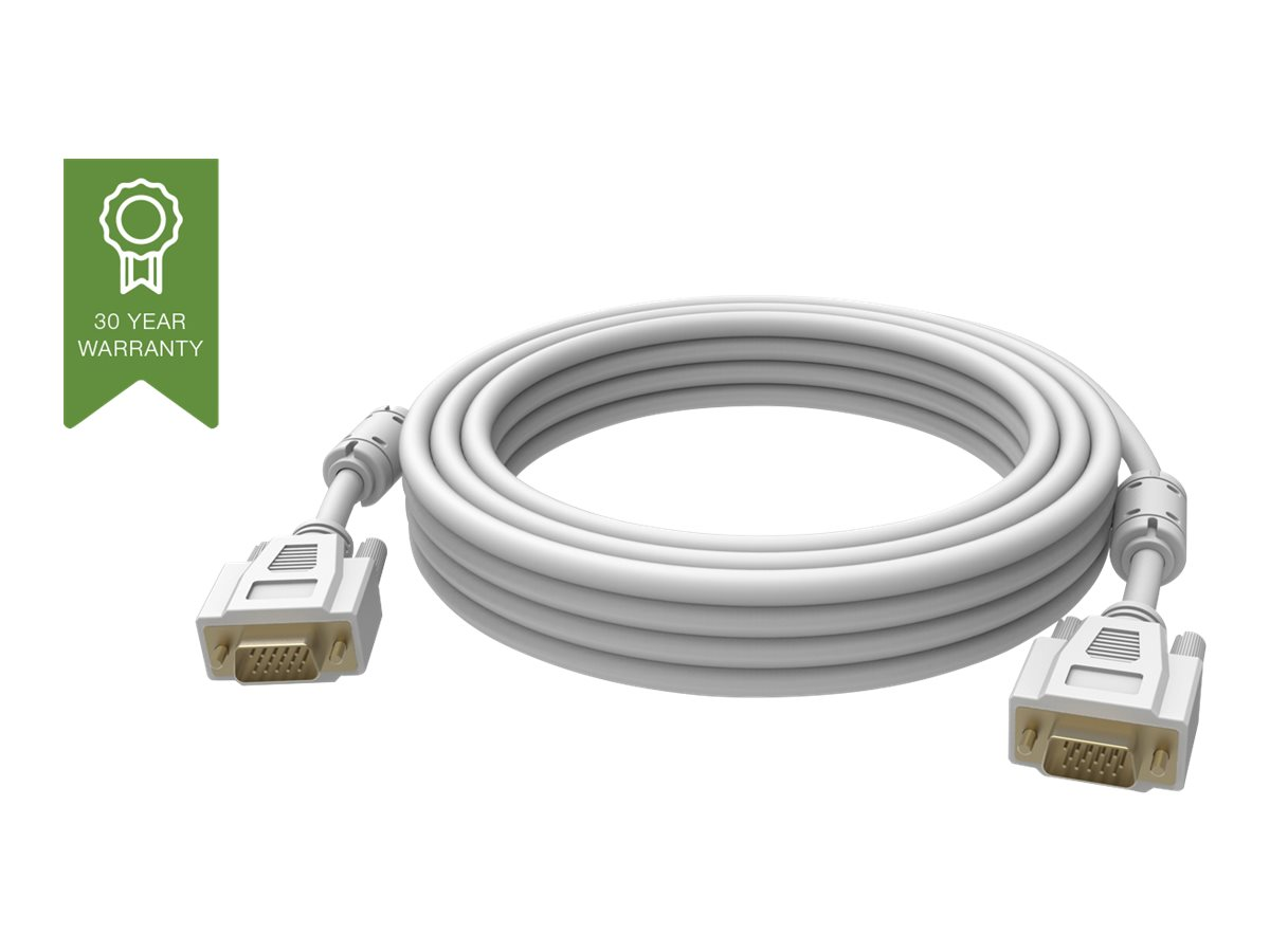 Vision Techconnect - VGA-Kabel - HD-15 (VGA) (M) bis HD-15 (VGA) (M) - 1 m - Daumenschrauben - weiss