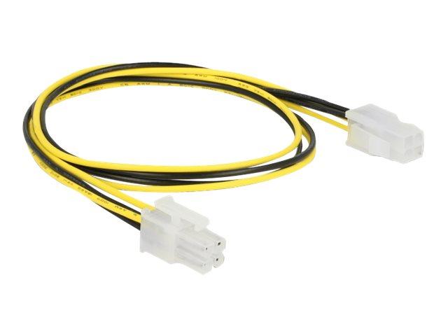 DeLOCK - Spannungsversorgungs-Verlängerungskabel - Netzstecker P4 (M) bis Netzstecker P4 (W) - 50 cm