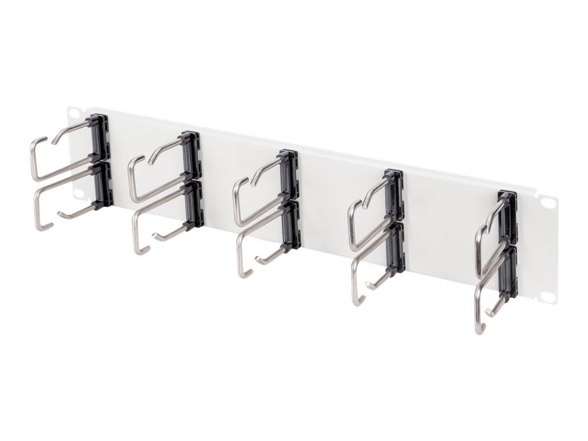 Digitus - Kabelmanagement-Panel mit Ringen für Rack - Grau, RAL 7035 - 2U - 48.3 cm (19