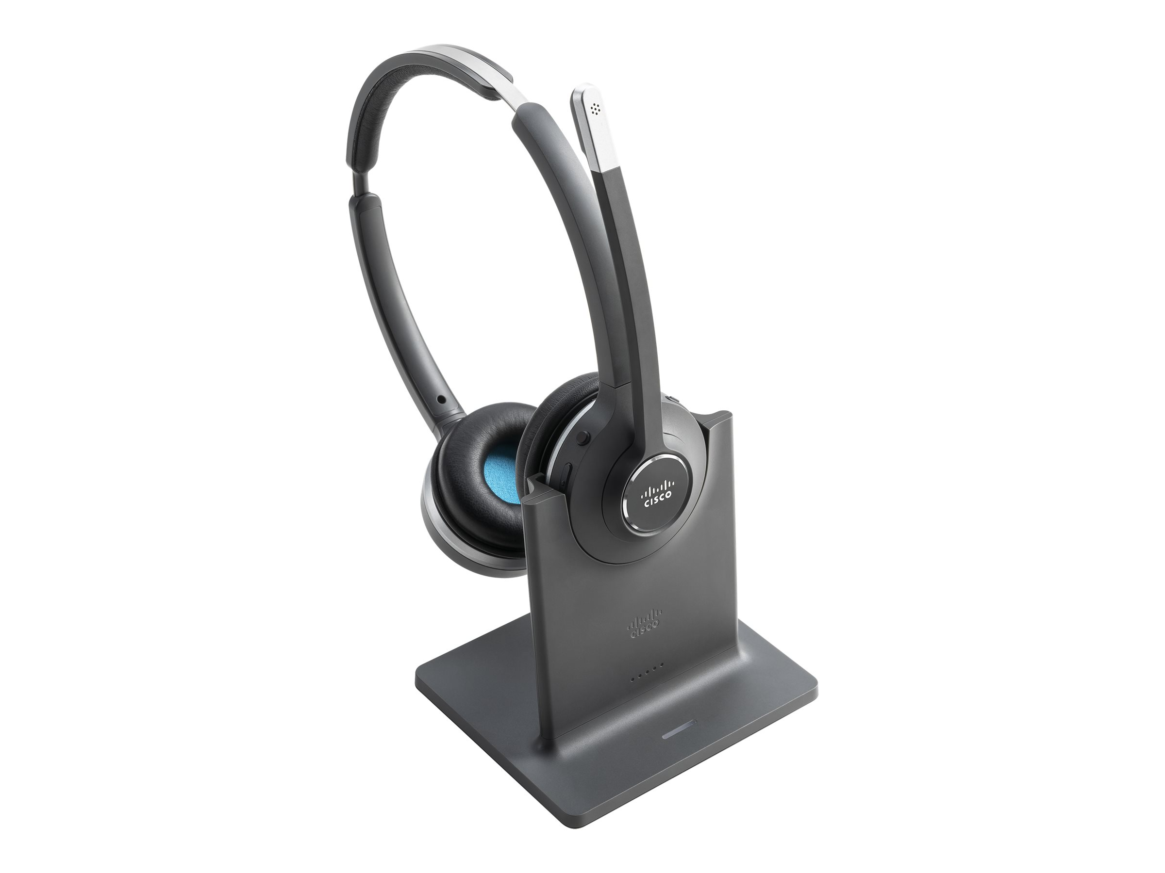 Cisco 562 Wireless Dual - Headset - On-Ear - DECT 6.0 - kabellos - mit Multibase Station