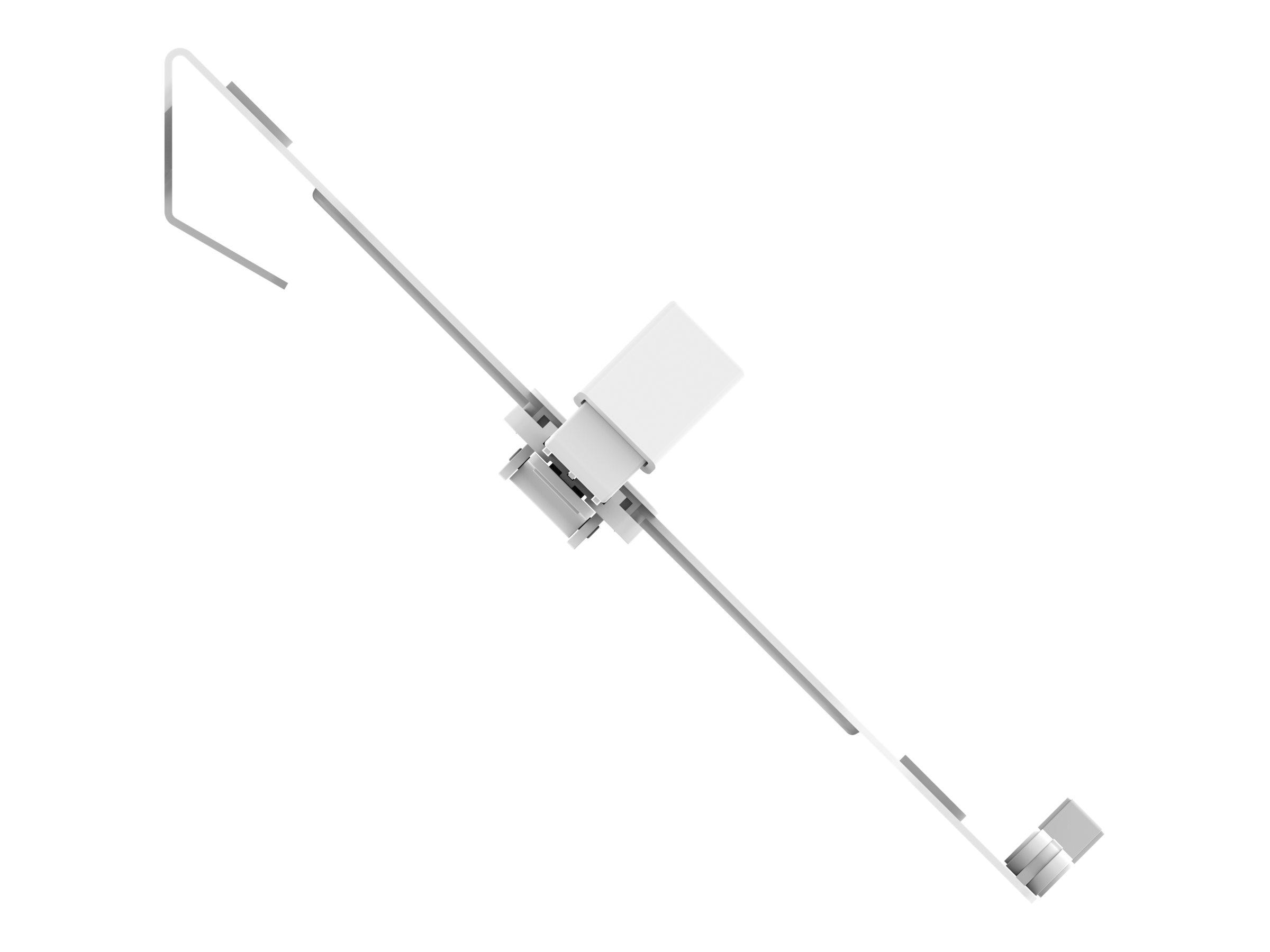 Vision VFM-DPD Monitor Desk Post - Tischhalterung für 2 LCD-Displays - Stahl - weiss - Bildschirmgrösse: 33-68.6 cm (13