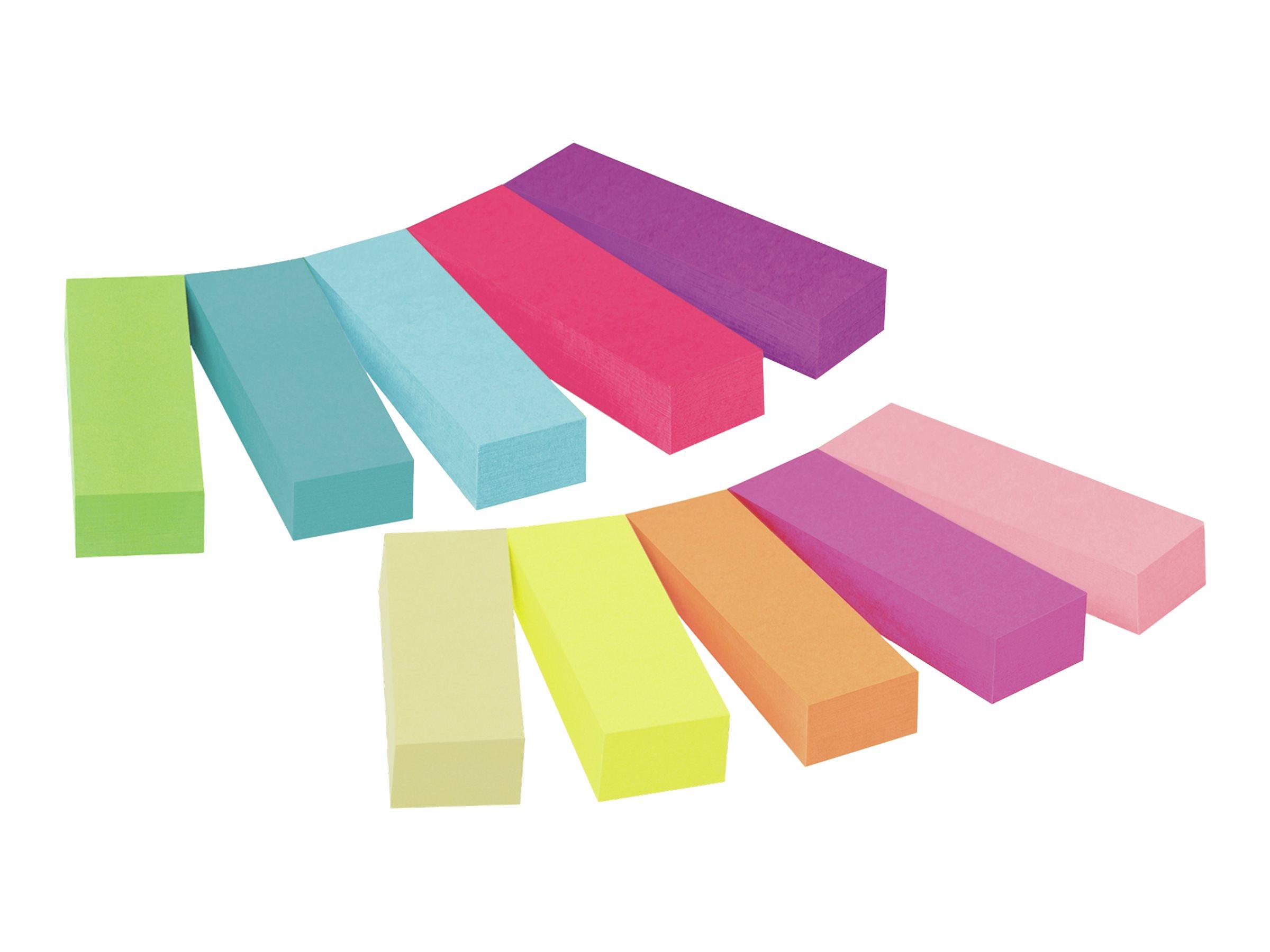 Post-it Page Marker 670-10AB - Seitenmarker - 12.7 x 44.4 mm - 500 Blatt (10 x 50) - gemischt
