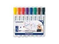 STAEDTLER Lumocolor 351 - Marker - für Glas, Whiteboard, Porzellan - verschiedene Farben - 2 mm - Packung mit 8