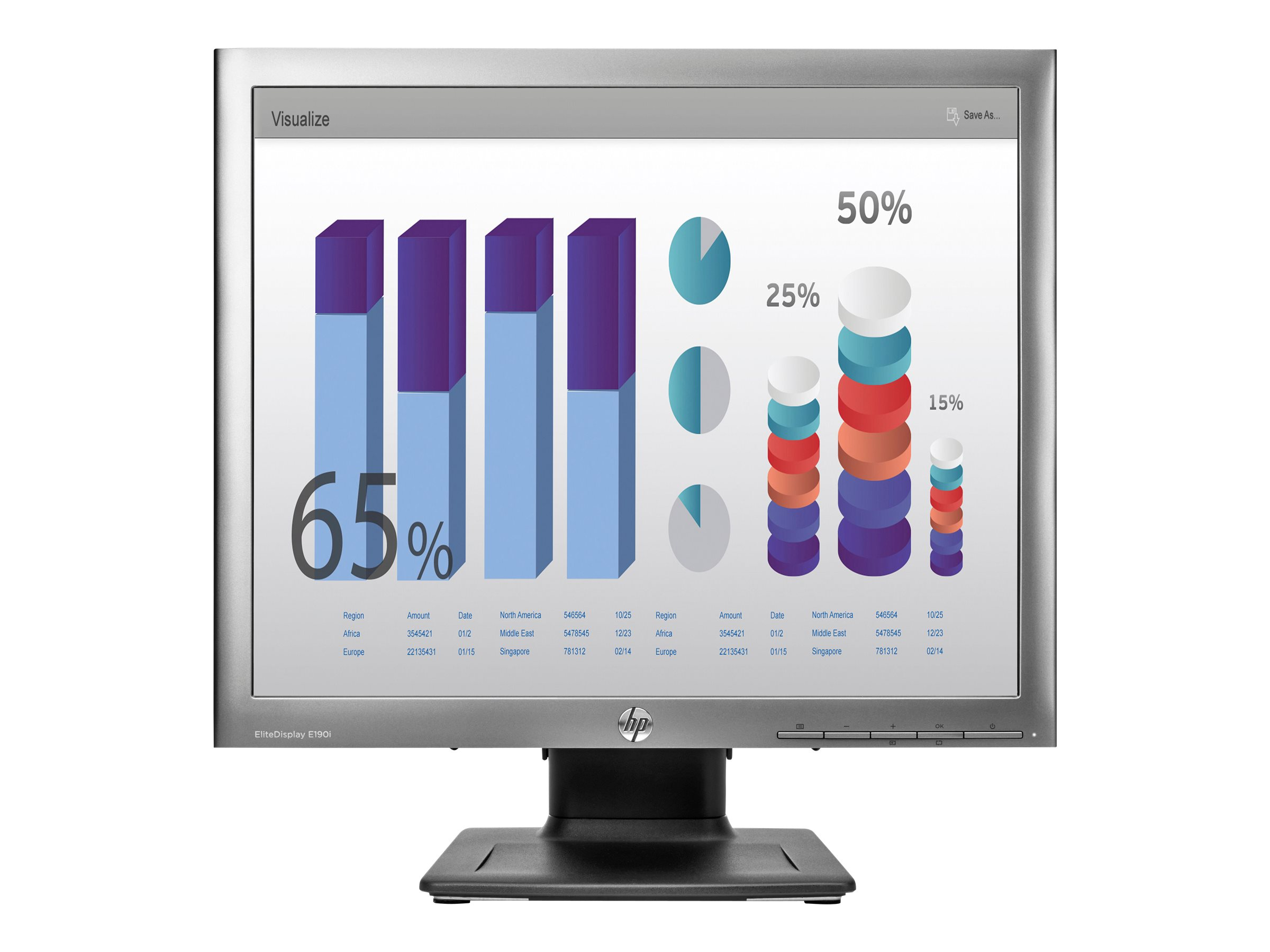 HP EliteDisplay E190i - LED-Monitor - 48 cm (18.9
